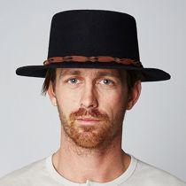Bridger Wool Felt Boater Hat in