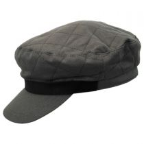 Bent Quilted Cotton Fiddler Cap alternate view 27