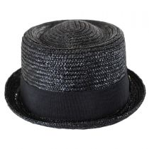 Wheat Straw Braid Pork Pie Hat in