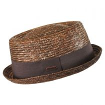 Wheat Straw Braid Pork Pie Hat