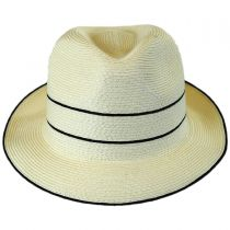Fine Toyo Straw Braid Trilby Fedora Hat in