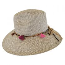 Tassel Trim Toyo Straw Safari Fedora Hat alternate view 7