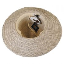 Tassel Trim Toyo Straw Safari Fedora Hat alternate view 8
