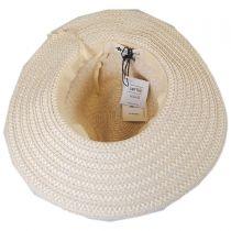 Tassel Trim Toyo Straw Safari Fedora Hat in