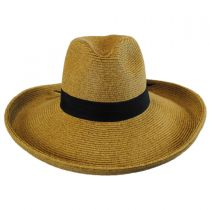 Bow and Kettle Brim Toyo Straw Fedora Hat alternate view 2