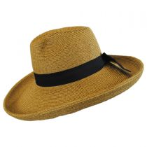 Bow and Kettle Brim Toyo Straw Fedora Hat alternate view 3