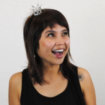 Mini Rhinestone Crown Headband in
