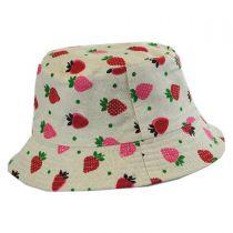 Kids' Strawberry Cotton Bucket Hat alternate view 2