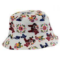 Kids' Horses Cotton Bucket Hat in