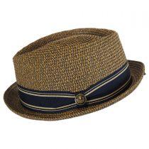Big Boy Kris Toyo Straw Diamond Crown Fedora Hat in
