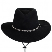 Black Foot Wool Felt Western Hat in
