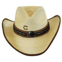 White Lie Palm Leaf Straw Western Hat in