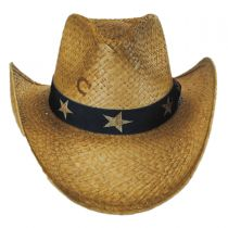 Stars and Stripes Straw Western Hat alternate view 2