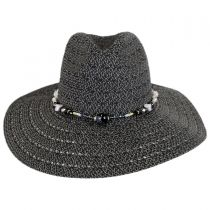 Bead Band Toyo Straw Fedora Hat in