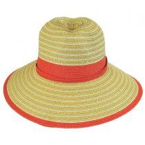 Two-Tone Toyo Straw Fedora Hat in