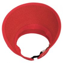Braided Toyo Straw Visor in