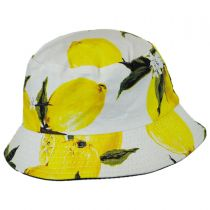 Lemons Cotton Bucket Hat in