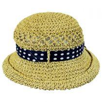 Kids' Polka Dot Bow Toyo Straw Sun Hat in