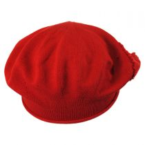 Heart Cotton Knit Beret in