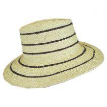 Amelia Raffia Straw Fedora Hat alternate view 9