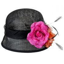 Nina Straw Cloche Hat in