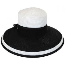 Color Block Toyo Straw Lampshade Hat in