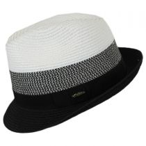 Color Block Toyo Straw Trilby Fedora Hat in