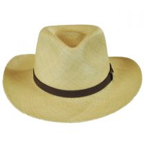 Leather Band Panama Straw Outback Hat in
