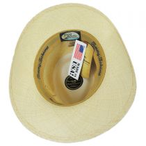 Leather Band Panama Straw Outback Hat alternate view 4
