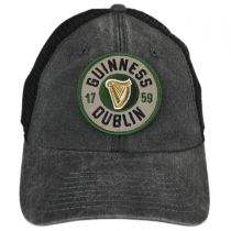 Guinness Raglan Bones Mesh Trucker Strapback Baseball Cap Dad Hat in