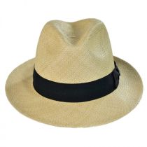 Panama Straw Snap Brim Fedora Hat in