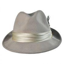 Crushable Wool Felt Fedora Hat in