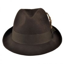 Pinch Front Wool Felt Fedora Hat in