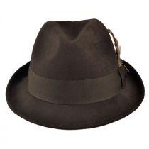 Pinch Front Wool Felt Fedora Hat alternate view 7