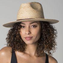 Simpson Raffia Straw Fedora Hat in