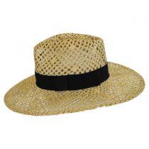 Kelly Open Weave Toyo Straw Fedora Hat alternate view 3