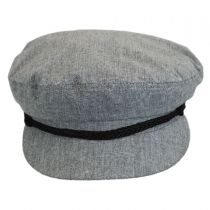 Chambray Linen and Cotton Fiddler Cap in