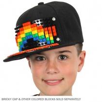 Bricky Blocks Snapback Baseball Cap INCLUDING Bricks alternate view 2