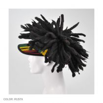 Visor with Dreadlocks