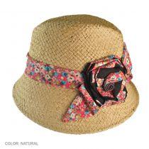 Asymmetrical Brim Straw Fedora Hat