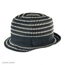 Diamond Ribbon Fabric Fedora Hat in