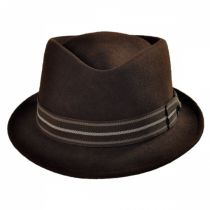 Diamond Crown Wool Felt Trilby Fedora Hat in