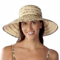 Panthere Raffia Straw Sun Hat in