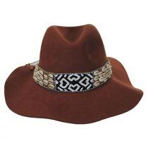 Seri Bead Band Wool Felt Fedora Hat in