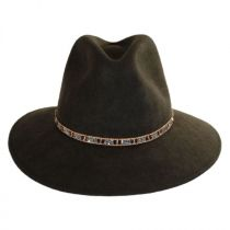 Moonlight Wool Felt Safari Fedora Hat in