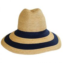 Newport Raffia Straw Wide Brim Fedora Hat alternate view 2