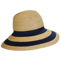 Newport Raffia Straw Wide Brim Fedora Hat alternate view 3