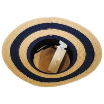 Newport Raffia Straw Wide Brim Fedora Hat alternate view 4