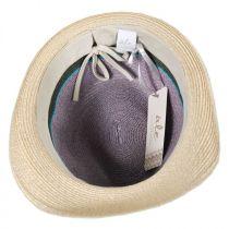 Tre Colore Hemp Straw Fedora Hat in