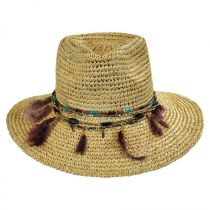 Jurere Raffia Straw Fedora Hat in